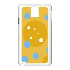 Blue and yellow moon Samsung Galaxy Note 3 N9005 Case (White)