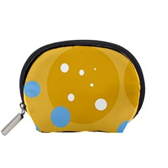 Blue and yellow moon Accessory Pouches (Small)