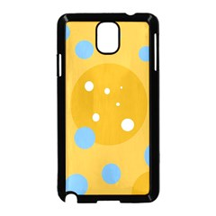Blue and yellow moon Samsung Galaxy Note 3 Neo Hardshell Case (Black)