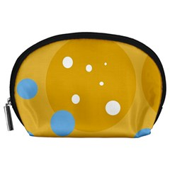 Blue and yellow moon Accessory Pouches (Large)
