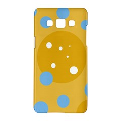 Blue and yellow moon Samsung Galaxy A5 Hardshell Case