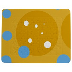 Blue And Yellow Moon Jigsaw Puzzle Photo Stand (rectangular)