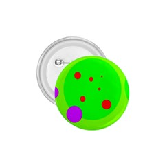 Green and purple dots 1.75  Buttons