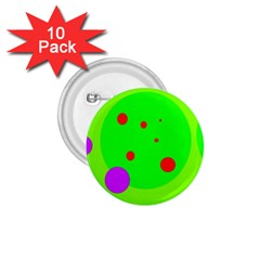 Green and purple dots 1.75  Buttons (10 pack)