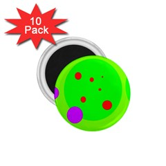 Green and purple dots 1.75  Magnets (10 pack)