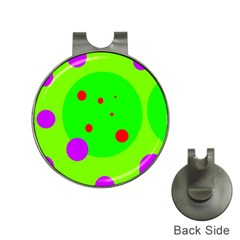 Green and purple dots Hat Clips with Golf Markers