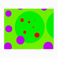 Green and purple dots Small Glasses Cloth (2-Side)