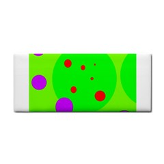 Green and purple dots Hand Towel