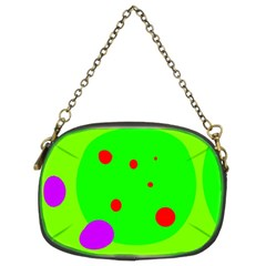 Green and purple dots Chain Purses (Two Sides)