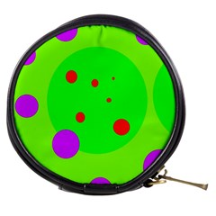Green and purple dots Mini Makeup Bags