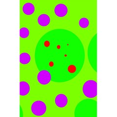 Green and purple dots 5.5  x 8.5  Notebooks