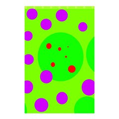 Green and purple dots Shower Curtain 48  x 72  (Small)