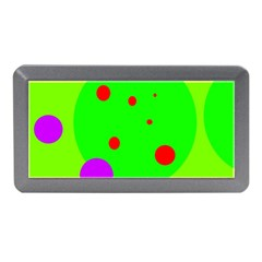 Green and purple dots Memory Card Reader (Mini)