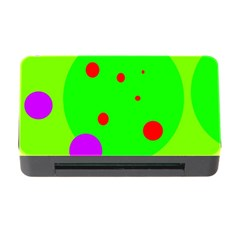 Green and purple dots Memory Card Reader with CF