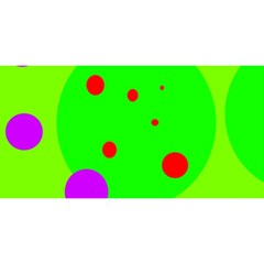 Green and purple dots YOU ARE INVITED 3D Greeting Card (8x4)
