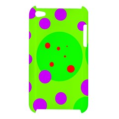 Green and purple dots Apple iPod Touch 4