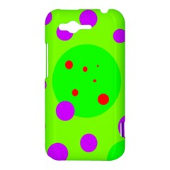 Green and purple dots HTC Rhyme