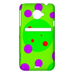 Green and purple dots HTC Evo 4G LTE Hardshell Case