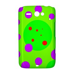 Green and purple dots HTC ChaCha / HTC Status Hardshell Case