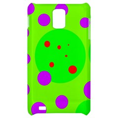 Green and purple dots Samsung Infuse 4G Hardshell Case