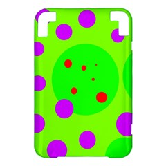 Green and purple dots Kindle 3 Keyboard 3G