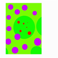 Green and purple dots Large Garden Flag (Two Sides)