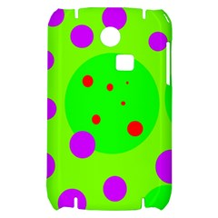Green and purple dots Samsung S3350 Hardshell Case