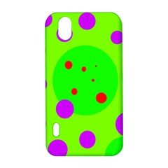 Green and purple dots LG Optimus P970