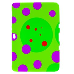 Green and purple dots Samsung Galaxy Tab 8.9  P7300 Hardshell Case
