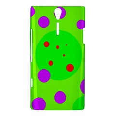 Green and purple dots Sony Xperia S