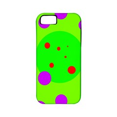 Green and purple dots Apple iPhone 5 Classic Hardshell Case (PC+Silicone)