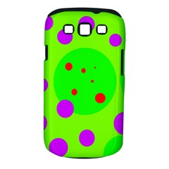 Green and purple dots Samsung Galaxy S III Classic Hardshell Case (PC+Silicone)