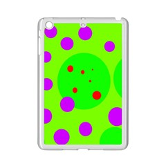 Green and purple dots iPad Mini 2 Enamel Coated Cases