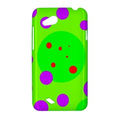 Green and purple dots HTC Desire VC (T328D) Hardshell Case