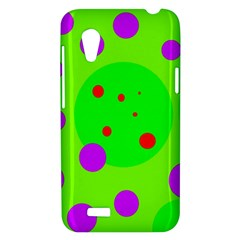 Green and purple dots HTC Desire VT (T328T) Hardshell Case