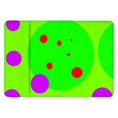 Green and purple dots Samsung Galaxy Tab 8.9  P7300 Flip Case