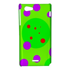 Green and purple dots Sony Xperia J