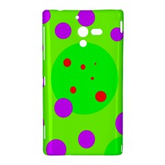 Green and purple dots Sony Xperia ZL (L35H)