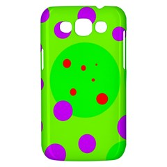 Green and purple dots Samsung Galaxy Win I8550 Hardshell Case