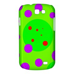 Green and purple dots Samsung Galaxy Express I8730 Hardshell Case