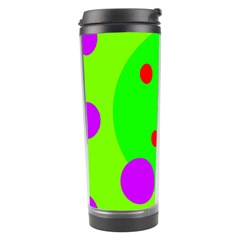 Green and purple dots Travel Tumbler