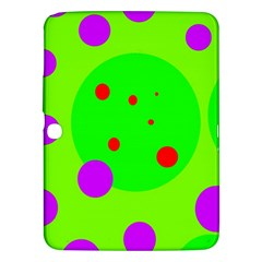 Green and purple dots Samsung Galaxy Tab 3 (10.1 ) P5200 Hardshell Case