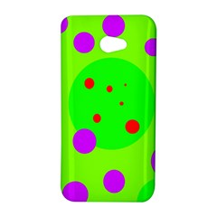 Green and purple dots HTC Butterfly S/HTC 9060 Hardshell Case