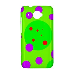 Green and purple dots HTC Desire 601 Hardshell Case