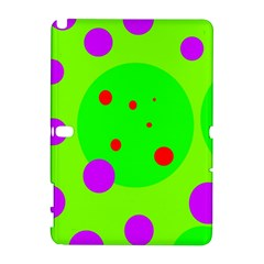 Green and purple dots Samsung Galaxy Note 10.1 (P600) Hardshell Case