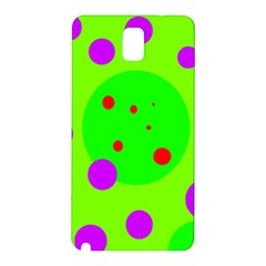 Green and purple dots Samsung Galaxy Note 3 N9005 Hardshell Back Case