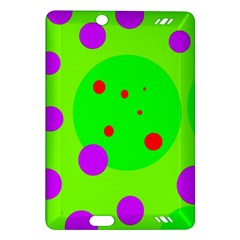 Green and purple dots Amazon Kindle Fire HD (2013) Hardshell Case