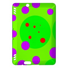Green and purple dots Kindle Fire HDX Hardshell Case