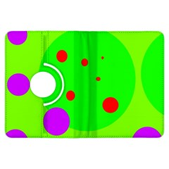 Green and purple dots Kindle Fire HDX Flip 360 Case