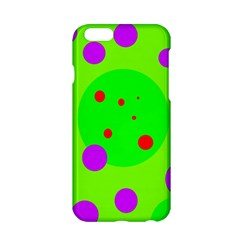 Green and purple dots Apple iPhone 6/6S Hardshell Case